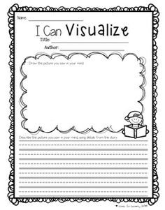 """I Can Visualize"" - 1 of 20 Reading Comprehension Printables for any Picture Book that cover predicting, inferring, visualizing, connecting and more!"