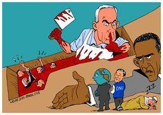israel netanyahu obama gaza carlos latuff
