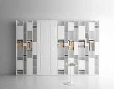 MDF Italia - Random box - bookcase with compartments in standard size, open or closed by doors