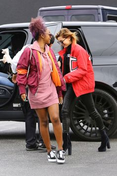 January 2: [HQs] Hailey and Justine Skye arriving at Maxfield Temporary Shop in West Hollywood