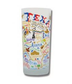 Texas 15 oz Frosted Drinking Glass