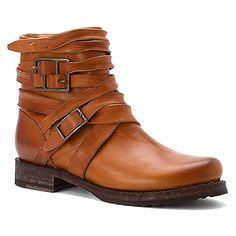 Frye Veronica Strappy Brown Washed Smooth Vintage