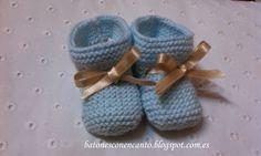 Buenas noches!!! Hoy os dejo las explicaciones de como tejer unos patucos.   Como sabéis...todo esto es nuevo para mi y hoy he terminado d... Knitting For Kids, Baby Knitting, Knit Shoes, Baby Wearing, Crochet, Baby Shoes, Projects To Try, Cross Stitch, Diy