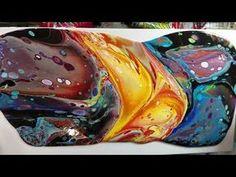 "Milky way - Major cells Acrylic Pour on 12""x24"" Canvas - YouTube"