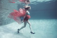 Underwater Fashion Photography by Claudia Legge
