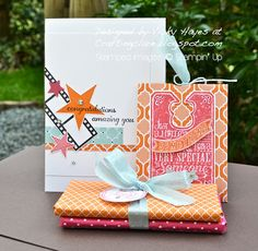 Stampin' Up ideas and supplies from Vicky at Crafting Clare's Paper Moments: Simply Stars - your chance to shine!