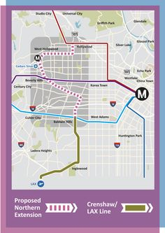 Light rail extension to West Hollywood
