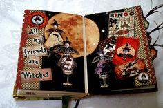 Her Art Nest: Halloween Art Journal Pages