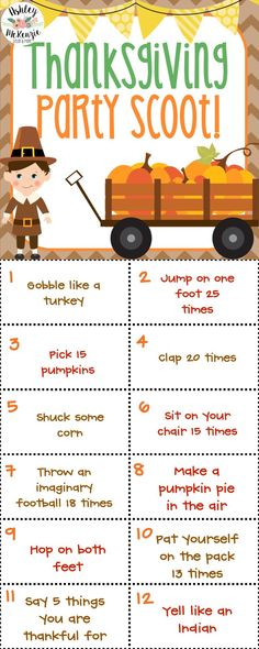 Thanksgiving Party Scoot Activity 30 Task Cards