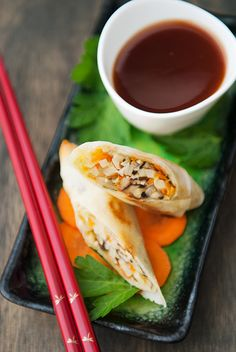 Baked Egg Rolls by userealbutter #Egg_Rolls #Light