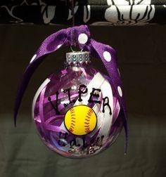 Personalized Sports Team Ornament! Softball, Baseball, Basketball, Soccer