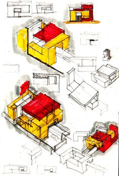Image 11 of 17 from gallery of Melfi Headquarters / Medir Architetti. Sketch