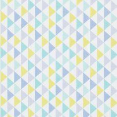 Tissu coton petits triangles
