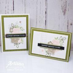 Artisan Design Team Blog Hop – Needlepoint Nook Suite Birthday Cards, Happy Birthday, Jpg, Powder Pink, Needle And Thread, Main Colors, Creative Inspiration, I Card, Needlepoint