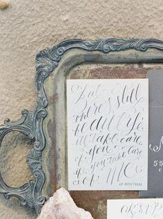 Watercolour Calligraphy / Wedding Style Inspiration / LANE