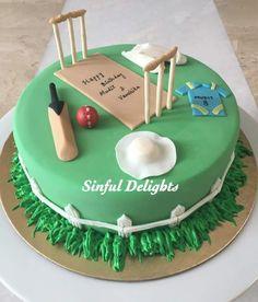 Sports Themed Cakes, Sports Theme Birthday, Cake Icing, Cupcake Cakes, Cupcakes, Cricket Cake, Jungle Cake, Frozen Cake, Beautiful Cakes