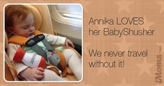 Annika LOVES her BabyShusher We never travel without it!