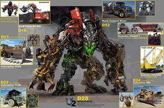 transformers 2 devastator parts Transformers Devastator, Transformers Movie, Aliens, Cyberpunk, Caterpillar Bulldozer, Transformer 1, Online Comic Books, Transformers Collection, Ex Machina