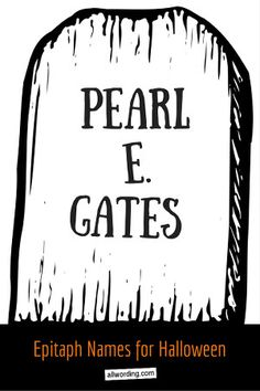 A hauntingly huge collection of Halloween tombstone sayings. These epitaphs range from humorous to spooky, but they all add up to Halloween fun. Halloween Tombstone Sayings, Tombstone Quotes, Halloween Tombstones, Halloween Graveyard, Halloween Quotes, Halloween Signs, Diy Halloween Decorations, Holidays Halloween, Scary Halloween