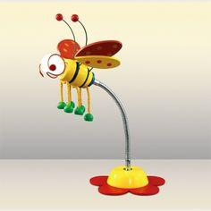 ДЕТСКАЯ НАСТОЛЬНАЯ ЛАМПА ODEON LIGHT 2804/1T - забавная пчелка на гибкой ножке. Серия APE из каталога 2015 года создана исключительно для детей.