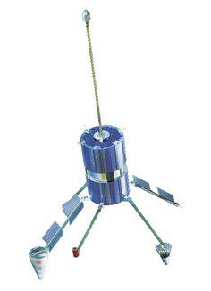 Ruská telekomunikační a navigační družice globálního systému Goněc-M. Obrázek: Zdroj  Roscosmos