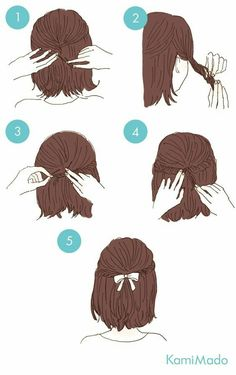 easy hairstyles These cute hairstyles are so simple to do and can be done in just minutes! Not everyone has a lot of time these days. So easy hairstyles are the way forward. Cute Quick Hairstyles, Sweet Hairstyles, Pretty Hairstyles, Cute Hairstyles, Braided Hairstyles, Hairstyle Ideas, Hairstyles For Short Hair Easy, Step By Step Hairstyles, School Hairstyles