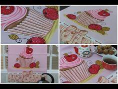 Pintura em tecido - Vamos pintar um cupcake? - Artes Mariana Santos - YouTube