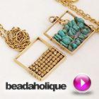 Tutorial - Videos: How to Wire Wrap Beads onto a Nunn Design Open Frame Pendant   Beadaholique