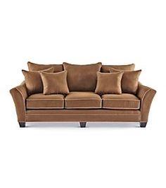 Arsons HM Richards Franklin Espresso Microfiber Sofa
