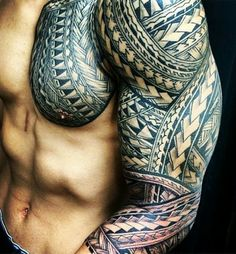 samoan tattoos for men Tribal Band Tattoo, Full Arm Tattoos, Tribal Sleeve Tattoos, Best Sleeve Tattoos, Tattoo Sleeve Designs, Tattoo Designs Men, Polynesian Tattoo Sleeve, Polynesian Tattoo Designs, Samoan Tattoo