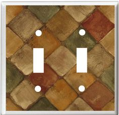 Image Of Stone Herringbone Pattern Tiles Light Switch Cover Plate Or Outlet Home Decor Free Shipping In U S By Decoratetoday On Etsy Pinterest Swit