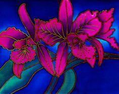 Orchids by Silk Artist Melissa Verbena