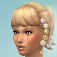 A collection of 10 facial scars for use with male and female sims.
