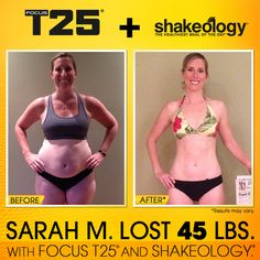 Shakeology and T25 = results beyond belief! - Shakeology