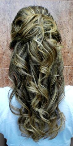 Great curly and colored hair