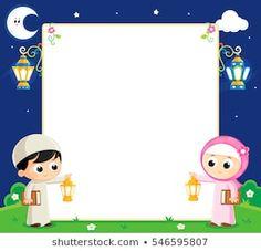 boy and girl are Celebrating Ramadan and carrying Lanterns and between them an empty white board Ramadan Crafts, Ramadan Decorations, Islamic Posters, Islamic Art, Poster Ramadhan, Wallpaper Ramadhan, Eid Cards, Islamic Cartoon, Kids Background