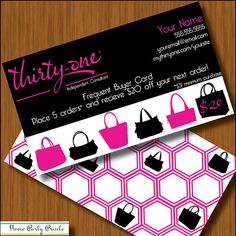 ThirtyOne Frequent Shopper Card  Personalized by HomePartyPrints