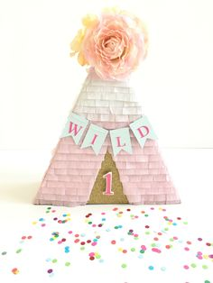 A personal favorite from my Etsy shop https://www.etsy.com/listing/470303998/teepee-mini-pinata-cake-table-boho-party