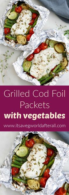 An easy weeknight meal that cooks cod, summer veggies, and herbs all at the same rate on the grill. Summer Vegetable Recipes, Grilled Vegetable Recipes, Grilled Veggies, Summer Squash And Zucchini Recipe, Summer Squash Recipes, Grill Fish In Foil, Grilled Cod, Zucchini Side Dishes, Baked Scallops