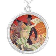 Vintage Antique Theatre Opera Carnaval Personalized Necklace