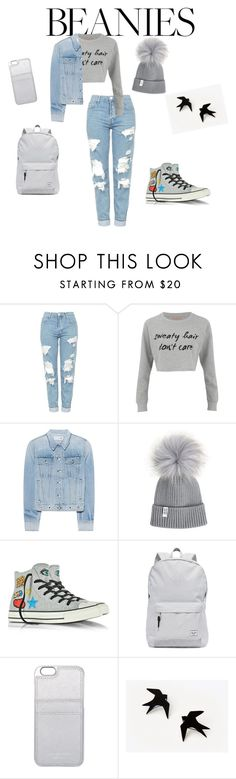 """Untitled #37"" by ausrine-paulikaite ❤ liked on Polyvore featuring Topshop, MINKPINK, rag & bone, Converse, Herschel Supply Co. and MICHAEL Michael Kors"