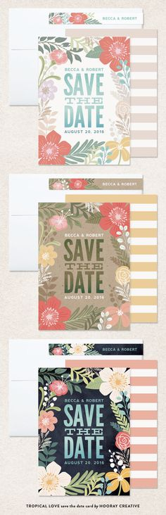 Tropical Love save the date card by Hooray Creative | Minted