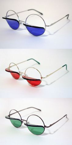 9893f3ec1382c This would maybe go in the category  Hoodie Eyewear  Percy Lau created a  lens that reminds me of canopies and awnings. Round frames with folded over  lenses.