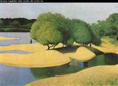 F. Vallotton Des sables au bord de La Loire