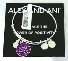 "Alex & Ani Disney Tinker Bell ""Believing is the Beginning"" Silver Bangle - New - http://designerjewelrygalleria.com/alex-ani/alex-ani-disney-tinker-bell-believing-is-the-beginning-silver-bangle-new-2/"