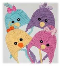SALE Today ONLY Crocheted Easter Peep Chick Hats         by MKozik, $15.00