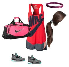 """""""Keianna daughter of Nike"""" by cordithedemigod ❤ liked on Polyvore featuring NIKE and Tasha"""