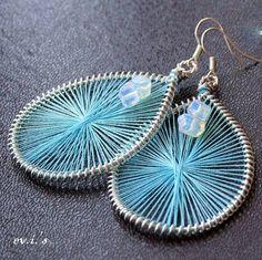 Handmade Sea Blue Threaded Peruvian / by EVIsHandmadeJewelry, $21.00
