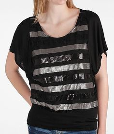 Daytrip Sequin Stripe Top