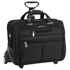 """I'm learning all about Mcklein R Series Ohare Nylon 17"""" Wheeled Laptop Case Black at @Influenster!"""